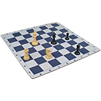 The Chess Store Floppy Chess Board Blue & Buff - 2.375 Squares by The Chess Store [並行輸入品]