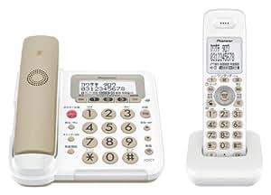 Pioneer デジタルコードレス電話機 子機1台付き 迷惑電話対策・留守番・ナンバーディスプレイ機能搭載 キャメル TF-FE30W-T