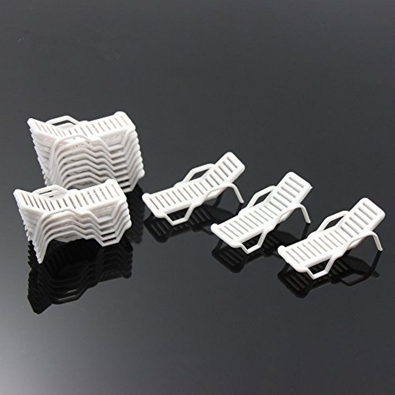 ビーチチェア 模型 ビーチ ベンチ サンラウンジャー 模型 1:150 24本入り モデル 建物模型 情景コレクション ジオラマ 箱庭 装飾 鉄道模型 教育 DIY