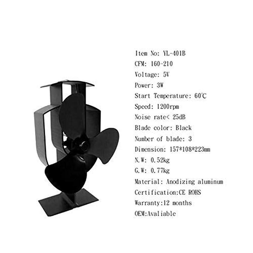 2-5ブレードヒートセルフパワードストーブトップファンアルミニウムサイレントエコフレンドリー燃料セービングfor Wood Log Burner Fireplace Ecofan