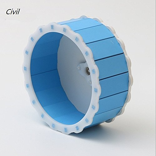 [Civil]ハムスター回し車 サイレントホイール 運動不足解消 ストレス解消 小動物用 15*6.5cm (ブルー)