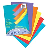 Pacon PAC101167BN Card Stock Vibrant Assortment 5 Colors 8-1/2 x 11 100 Sheets per Pack 2 Packs [並行輸入品]