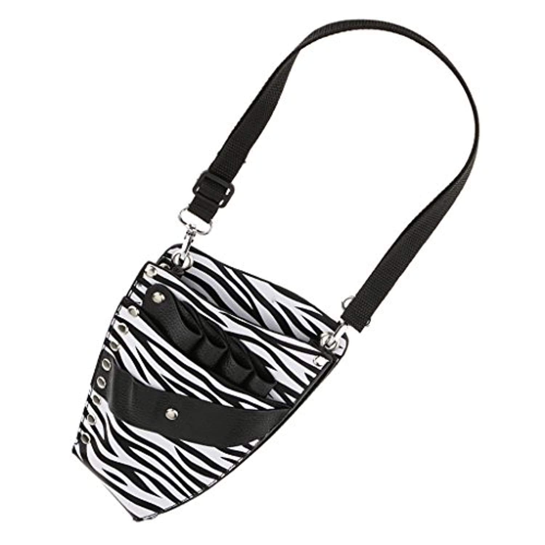 Perfk 美容 理髪 多機能 ツール 収納 ポーチ バッグ 布 バッグ ゼブラ パターン 3タイプ選べる