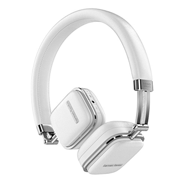 Harman Kardon SOHO WIRELESS Bluetoothヘッドホン 密閉型/オンイヤー/イヤーカップ?モーションセンサー搭載 ホワイト HKSOHOBTWHT 【国内正規品】