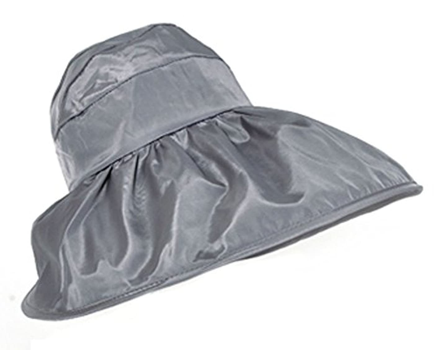 白鳥密度レトルトFakeFace 夏 レディース 帽子 UVカット サンバイザー 紫外線対策 日よけ帽子 つば広 オシャレ ケープ ハット 日よけ 折りたたみ 防水 カジュアル 海 農作業 ぼうし サイズ調節可