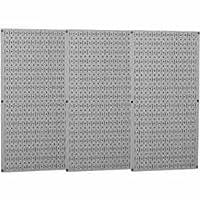 壁コントロール工業メタルペグボード–グレー、3つ16x 32インチパネル、モデル# 35-p-3248gy