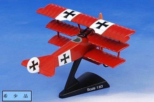 1:63 モデル パワー 郵便 Stamp Planes 5349-3 Fokker Dr.I Triplane ダイキャスト モデル Luftstreitkrafte Jasta 27, Rudol
