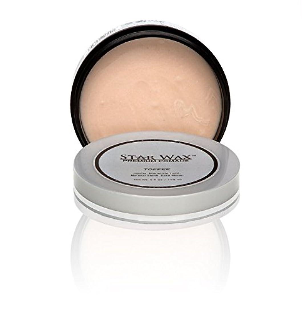 トリップ理解する境界Star Wax   Premium Pomade, Toffee(スターワックスプレミアム ポマード「タフィー」)?Star Pro Line(スタープロライン) 製?5(液量) オンス/150ml