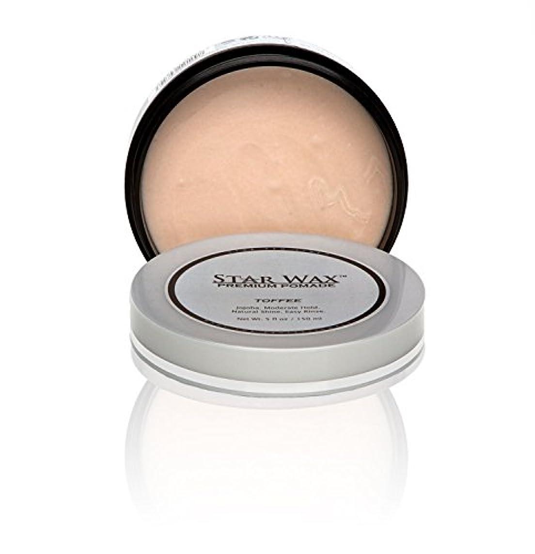 ミュウミュウかもしれない北米Star Wax | Premium Pomade, Toffee(スターワックスプレミアム ポマード「タフィー」)?Star Pro Line(スタープロライン) 製?5(液量) オンス/150ml