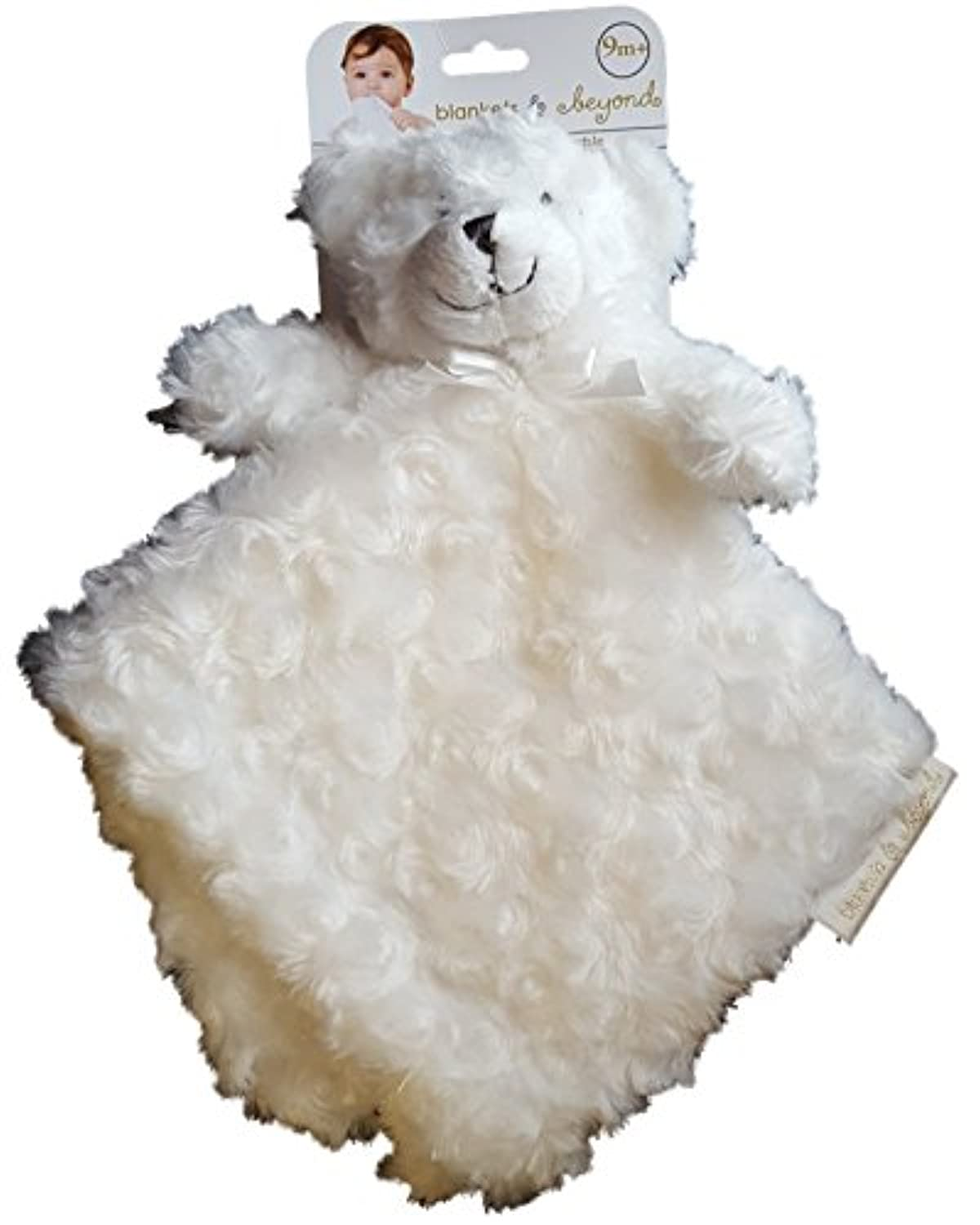 Blankets & Beyond White Rosette Bear Security Blanket by Blankets and Beyond