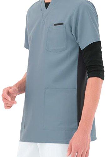 ナガイレーベン スクラブ(男女兼用) 医療白衣 半袖 ミストグリーン M RT-5062