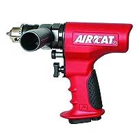 AIRCAT 4451 1/2 Reversible Ergonomic Drill Small Red [並行輸入品]