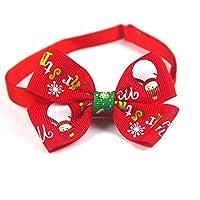 クリスマスイージーウェアベル付き調節可能な赤と緑の猫犬の首輪バックル犬の首輪猫子犬ペット用品猫-赤