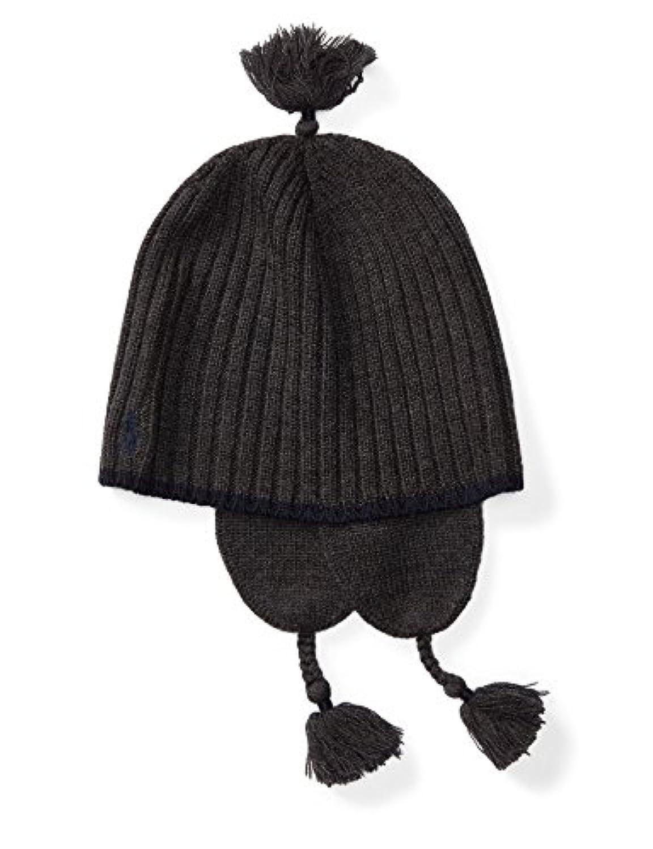 RalphLauren ラルフローレン イヤーフラップニット帽 チャコールグレイ サイズ9-24M