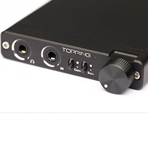 Topping NX3 HIFI 高性能ポータブルヘッドホンアンプ 長時間バッテリー2400mAh (Black)