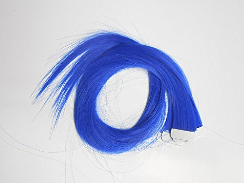 に対してバージン目指す簡単エクステ テープエクステンション シールエクステンション 10枚入 10色カラー (ブルー)