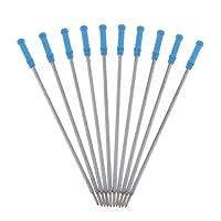 chiwanji ボールペン 替え芯 詰め替えインク 0.2mm オフィス 学校 家庭用 筆記具 滑らか 書き心地 全2色 - 青