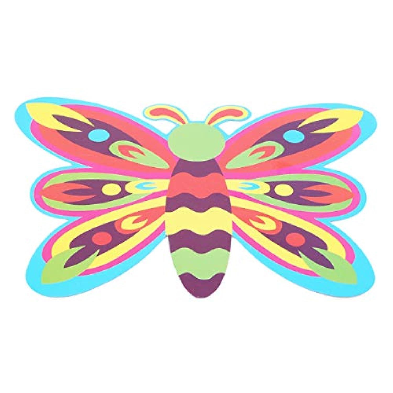 LALANG EJY 幼稚園の子供用 手作り素材 DIY布アート ペーストペイント 色識別玩具 Butterfly マルチカラー LALANG