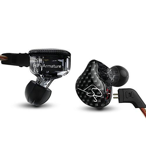 KZ ZST ハイブリッドドライバイヤホン 1BA+1DD 高性能インイヤーイヤホン (no microphone)