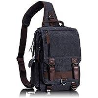 Leaper Retro Messenger Bag Canvas Shoulder Backpack Travel Rucksack Sling Bag
