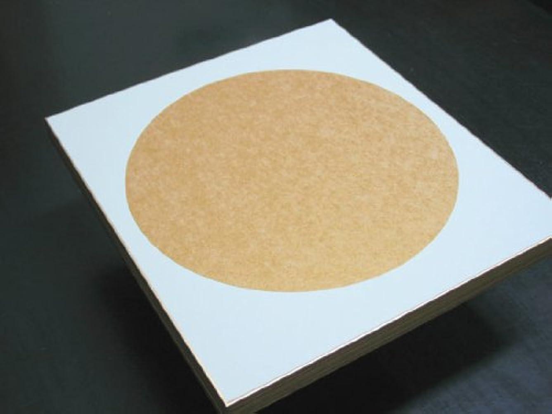 集中的な鎮静剤イライラする色紙 特選金潜紙型抜き 月形 (中金/外鳥の子) 10枚