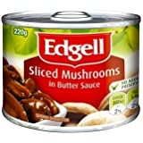 Edgells Sliced Mushrooms in Butter Sauce Can Food 220 g, 220 g