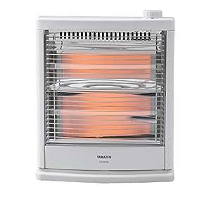 山善 電気ストーブ(800W/400W 2段階切替) ホワイト DS-D086(W)
