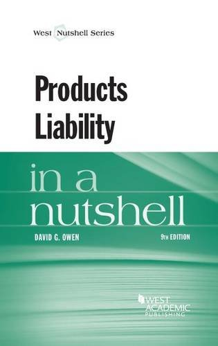 Download Products Liability in a Nutshell (Nutshells) 0314268405