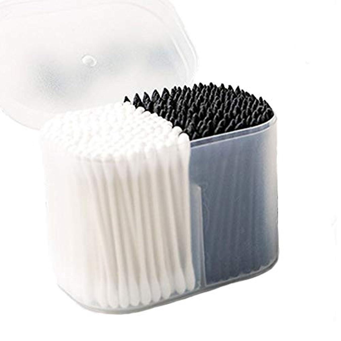 パフ胚芽アイデア美容化粧綿棒スティック綿綿スティック使い捨てクレンジングクレンジング耳先の尖った綿棒箱入り300