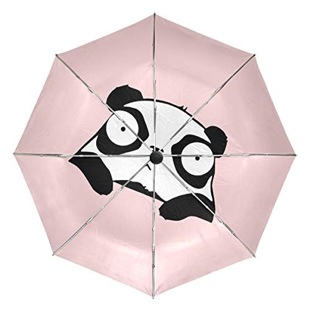 矩形ガチョウ貧しい傘 自動傘 丈夫 台風対策 雨傘 日傘 かわいい パンダ 三つ折り傘 日よけ傘 日焼け止め 折りたたみ傘 UVカット 紫外線カット 自動開閉 晴雨兼用 梅雨対策