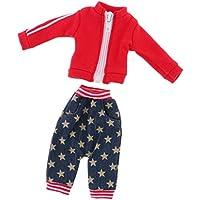 Lovoski  人形 シンプル ジッパー式 コート パンツ 運動服 12インチブライスドール適用 装飾