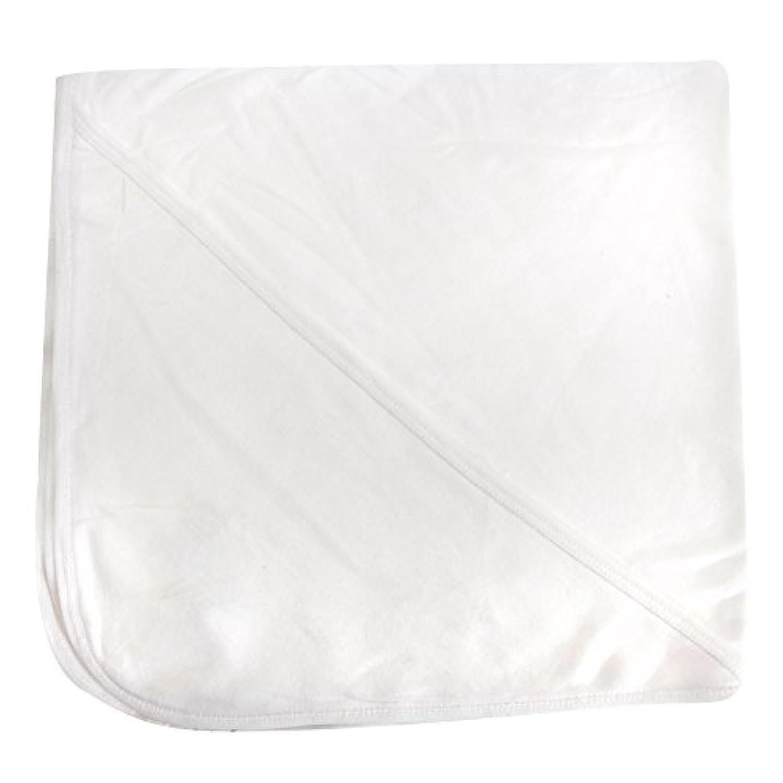 (ベイビーバグズ) Babybugz 赤ちゃん?ベビー用 オーガニックコットン フード付きブランケット ベビー毛布 (ワンサイズ) (ホワイト/ホワイト)