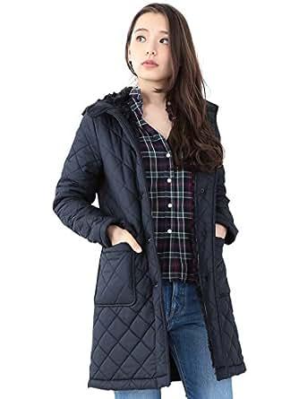 """(デミルクス ビームス) Demi-Luxe BEAMS Traditional Weatherwear トラディッショナル ウェザー ウェア / """"GRANGE"""" ボア キルトコート 64190290118  ネイビー 34"""