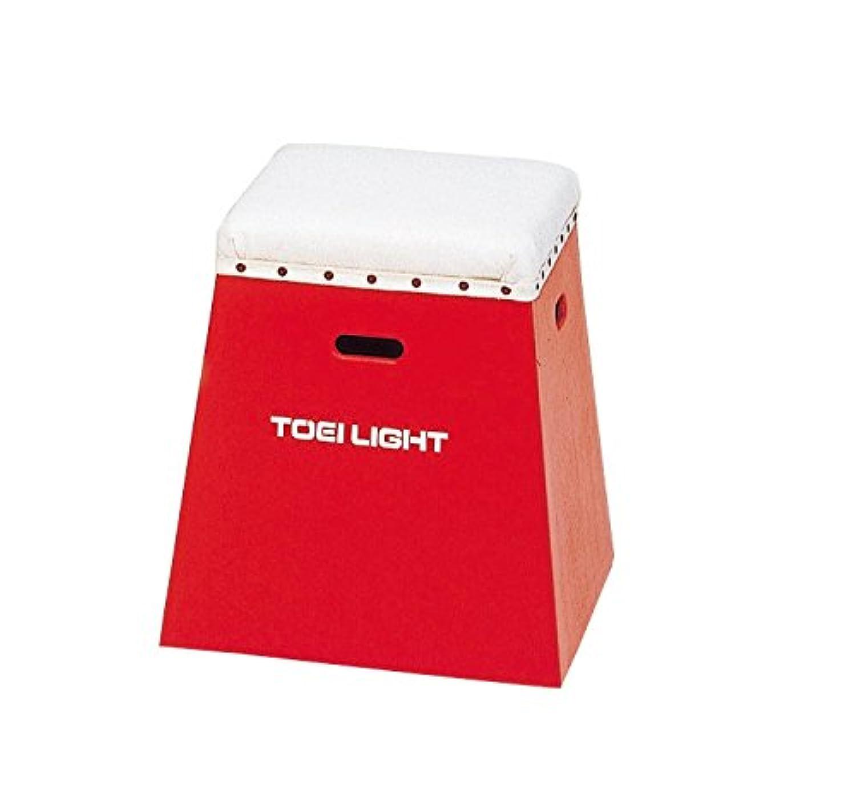 TOEI LIGHT(トーエイライト) 入門用跳び箱50 赤 下部45cm(上部36cm角)×高さ50cm 一体式 保育?幼児?小学校低学年向 T2267R T2267R