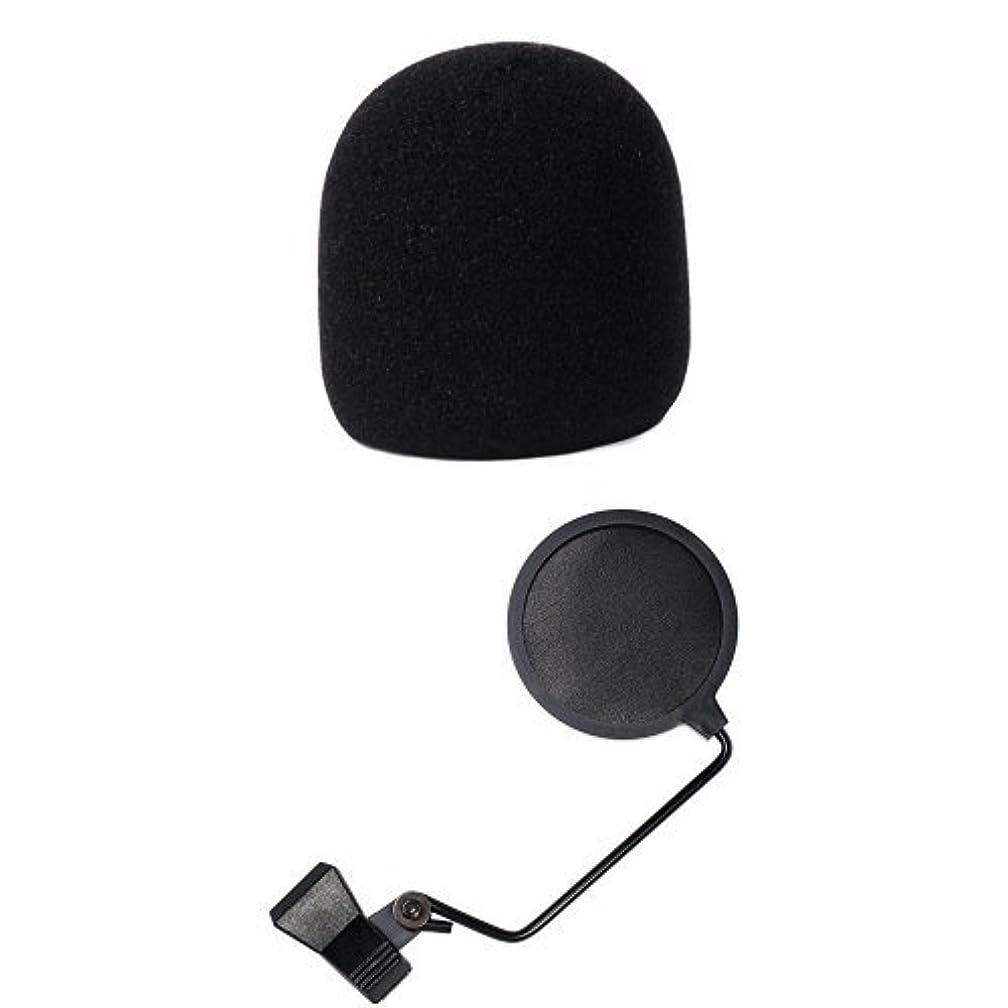 端方法フォローKC ウインドスクリーン ブラック WS-DM/BK + ポップガード付きセット