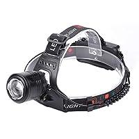 【Tata】屋外T6 LEDヘッドランプポータブルミニアジャスタブル釣りヘッドライトは、*ブラックハンギングキャンプ用のヘッドランプ懐中電灯