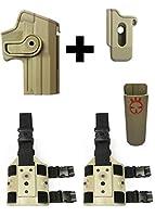 IMI Defense zsp08Magポーチ+ z1140回転ホルスターH & K HK Heckler & Koch USPフルサイズ( 9mm / .40) Right Hand、タン+ 2つのセットz2200ドロップ脚アタッチメントリグ+ Ultimate Arms Gear Magazineベルトホルダー