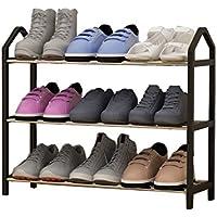 靴ラック3段組立オーガナイザーシェルフ靴箱(L)63x(D)20x(H)45cm