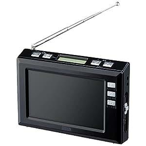 ヤザワ 4.3インチ液晶 ワンセグTV/AM/FMラジオ(ブラック)YAZAWA TV03BK
