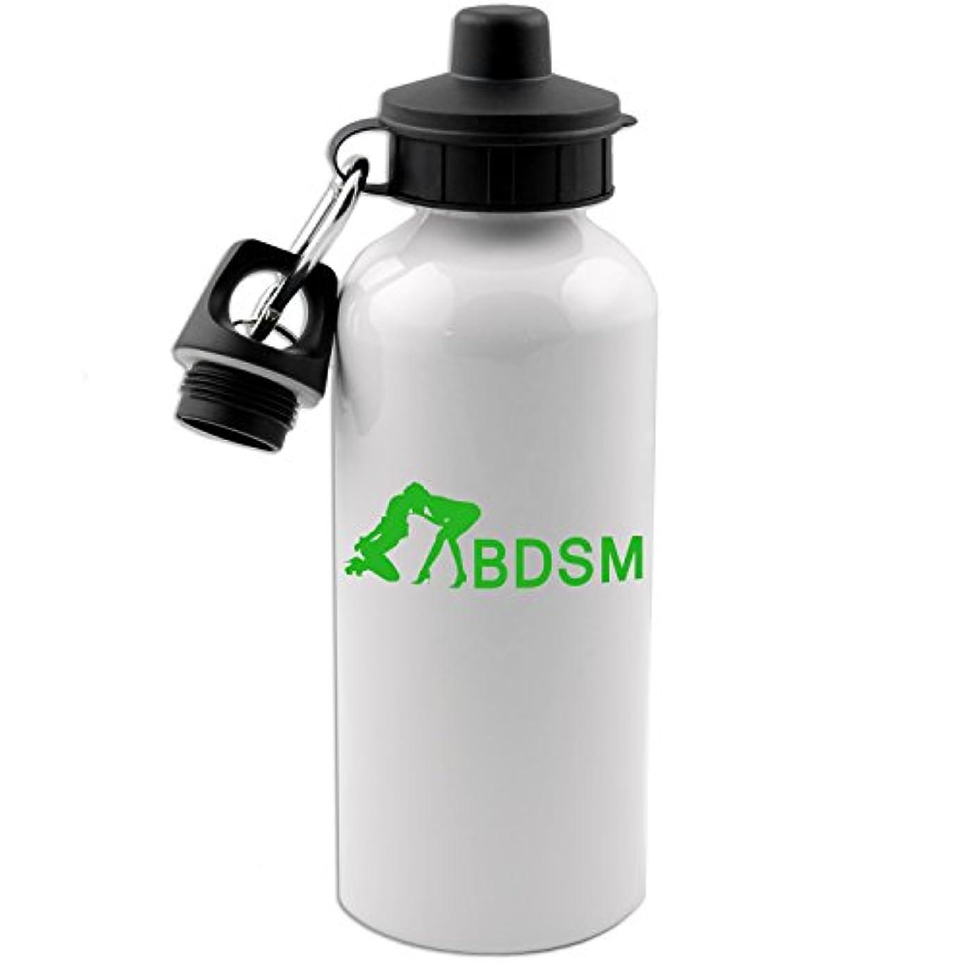 知覚的ロードブロッキング襟セクシーなBDSM 20 ozホワイトアルミニウム水ボトル