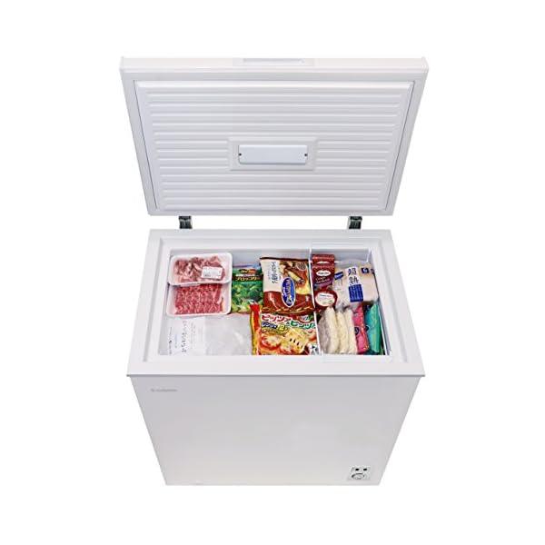 チェスト型冷凍庫 142L ホワイト 庫内灯付...の紹介画像5