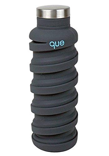 Queボトル–折りたたみ水ボトル–BPAフリー漏れ防止、軽量、環境に...