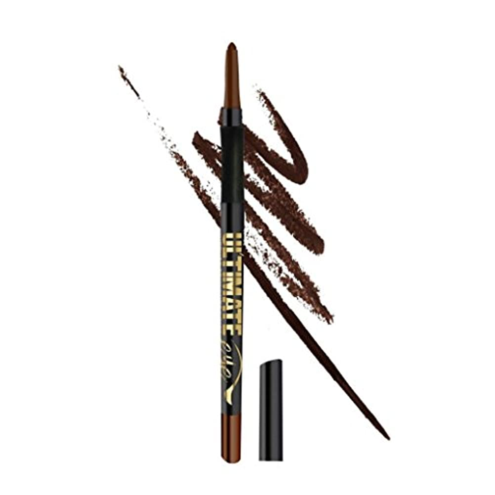 微弱とげのある虚弱(3 Pack) L.A. GIRL Ultimate Auto Eyeliner - Lasting Brown (並行輸入品)