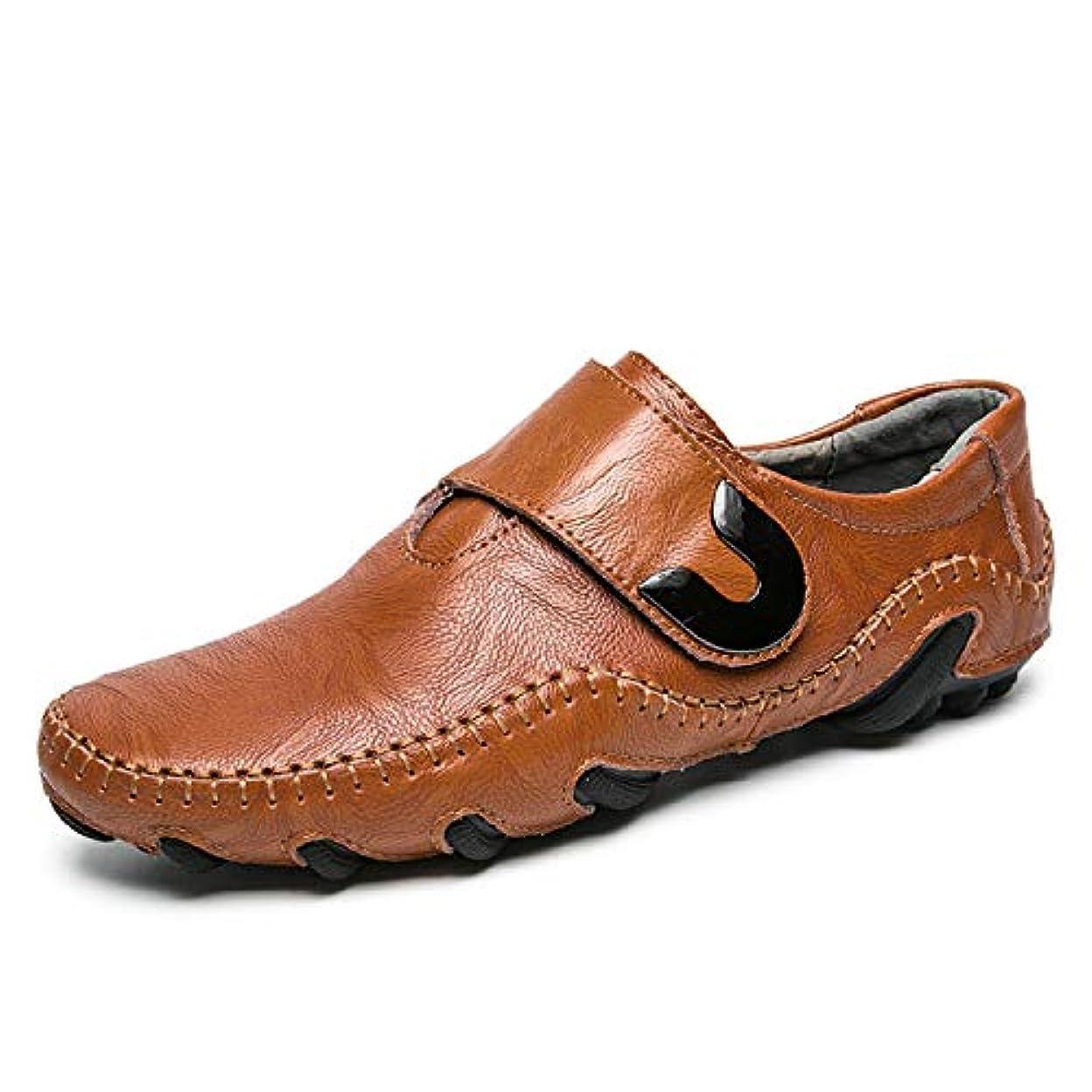 アレンジジャンル確保するドライビングシューズ メンズ ビジネスシューズ 革靴 カジュアルシューズ スリッポン ローファー モカシン 本革 快適 通気 超柔軟(24.0cm-27.0cm)