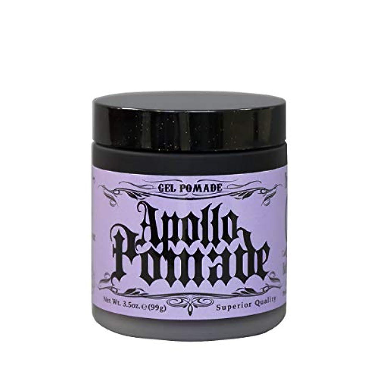 肥沃な癒す税金ポマード メンズ Apollo Pamade (アポロポマード ジェルポム 水性 ) 3.5oz(99g)