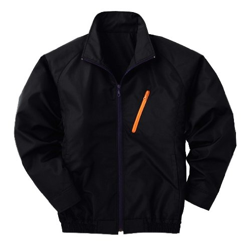 空調ブルゾン2014年モデル新色【ポリエステル製長袖ブルゾン ブラック LサイズP-500BNC09S3】☆服、ファン、ケーブル、電池BOX