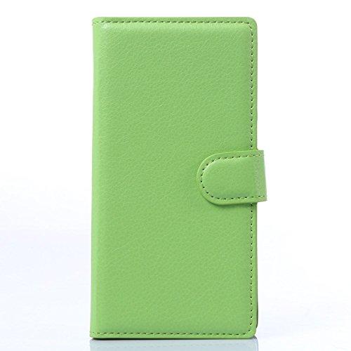 Aiyopeen 【 全7色 】 ZTE Blade vec 4G ( freetel LTE XM ) 専用ケース 手帳型 カバー カード収納 ケース ( 緑 )