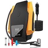 Digital Tire Inflator Pump w/Precise Pressure Gauge, Portable Air Compressor Auto Shut Off for Car Motorcycle Bike w/LED Light, DC 12V Max 150 PSI