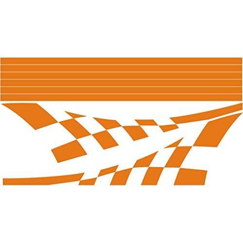 3034__O 車のステッカーレーシング旗 ( Orange...