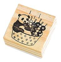 クリエイティブスタンプセット 木製ゴム印セット 執筆のためのスタンプ(2 PCS) #33